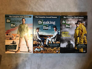 Breaking Bad Season 1, 2 and 3