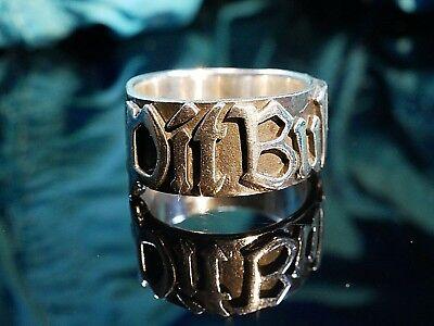 Starker 925 Silber Ring Markenschmuck Pit Bull Modern Unisex Männer Frauen Edel (Pitbull Schmuck)