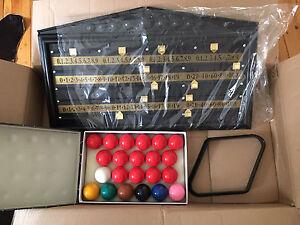 Snooker set (Balls / Rack / Scoreboard) Carlton Kogarah Area Preview