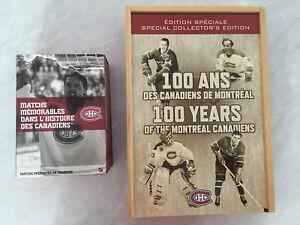 Deux coffrets collection des Canadiens
