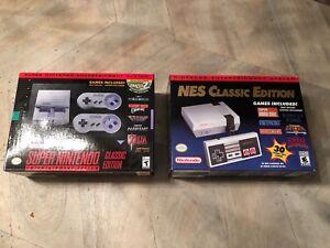 SNES Classic + NES Classic