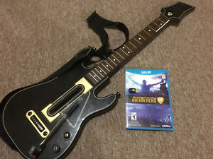 Wii U Guitar Hero Live with game and guitar