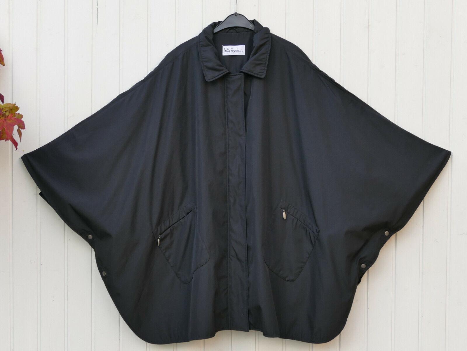 * ULLA POPKEN * megaweites Cape Mantel Poncho oversized schwarz - Gr. II