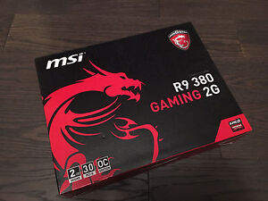 MSI R9 380 2GB Gaming PC video graphics card