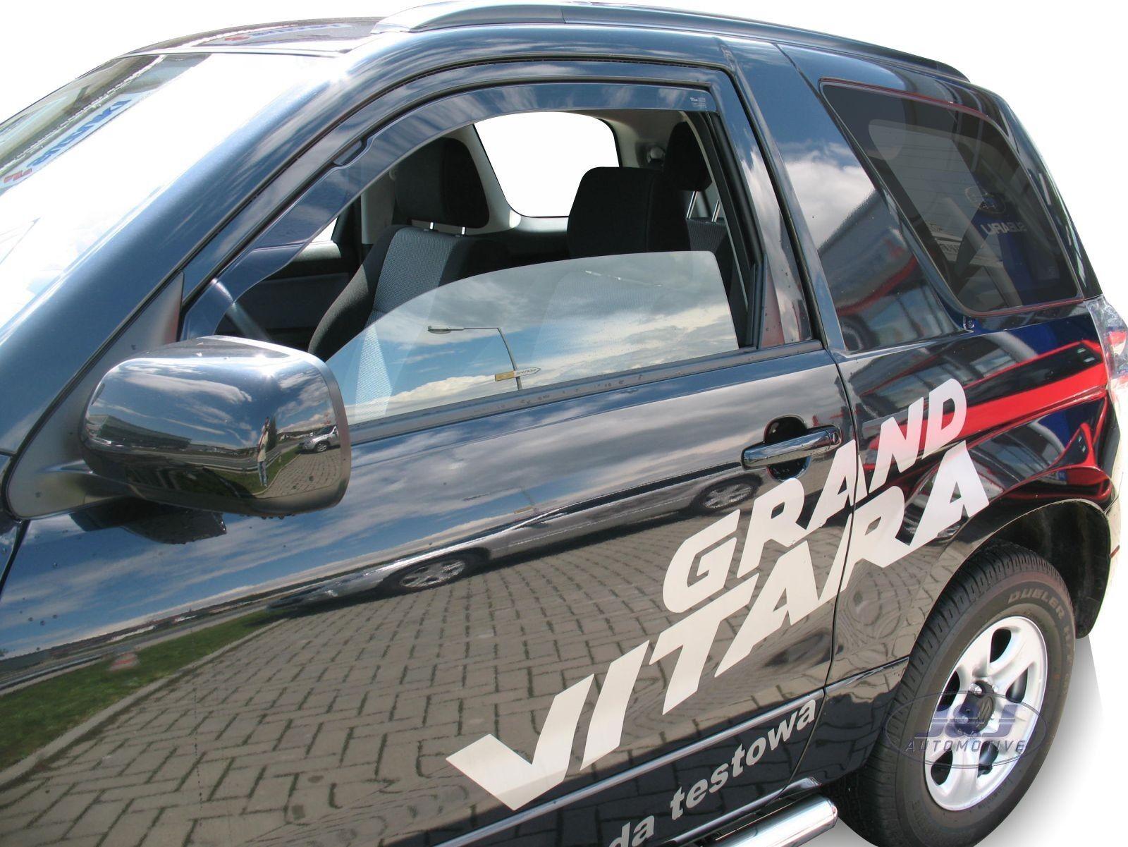 Generico Set DEFLETTORI Antivento Auto Compatibile con Suzuki Grand Vitara 5P 2006  PARAVENTO Anti Vento Acqua Turbo Fume G3