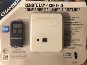 Chamberlain myQ remote lamp control and garage door opener