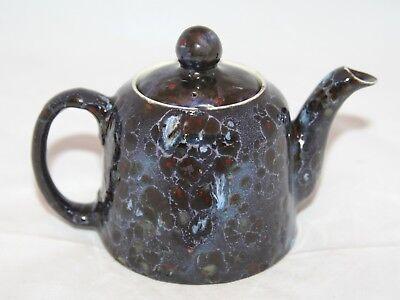 Antique Small Moorcroft Purple Flambe Bachelor Teapot 1914-1918