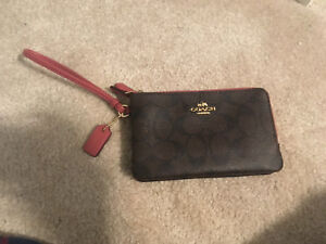 Brand New Coach Wristlet / Wallet - Two Pouches