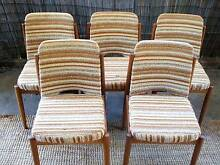 Retro VINTAGE Dining Chairs x 5 PARKER CHISWELL EAMES ERA Tighes Hill Newcastle Area Preview