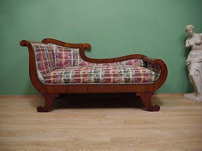 Biedermeier Sofa - Mahagoni - neu gepolstert - um 1820