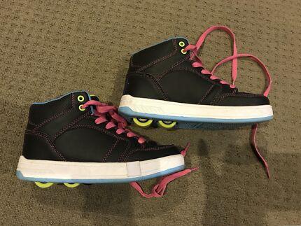 Girls Roller / Wheely / Skate shoes. As new