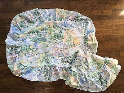 Set of 2 Springs Floral Pastel Watercolor Ruffled Bed Pillow Shams NEW