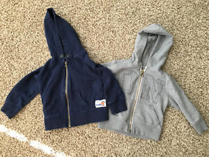 Two 18 month size boys hoodies