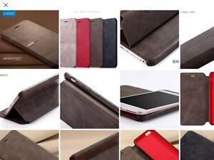Genuine Leather Flip Case Stand Cover for iPhone 7Plus, NEW