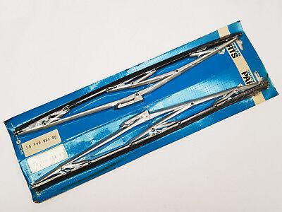 "Simca Classic Car 405mm 16"" Wiper Blades Metal New X2"
