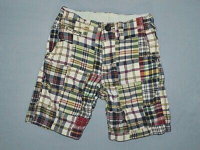 Boys Madras Shorts (Gap Kids Boys Shorts Size 5 Madras Plaid Patchwork Multicolor Summer Bottoms)