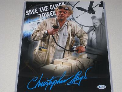 Christopher Lloyd Signed 11x14 Back to the Future Photo Autograph Beckett COA 4
