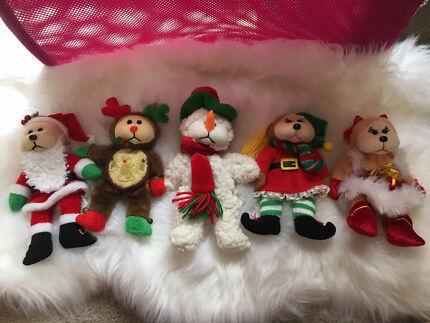 Beanie Kids Xmas Christmas set of 5