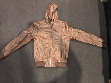 100% genuine leather jacket - men's large