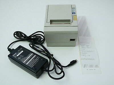 Epson Tm88 Iii P M129c White Thermal Receipt Printer With Power Adapter