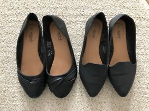 Ladies Size 8 Black Flats 2 for $5