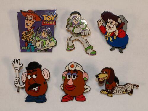 (LOT OF 6) Disney Pixar Toy Story Pins (Buzz Lightyear, Mr. Potato Head, & More)