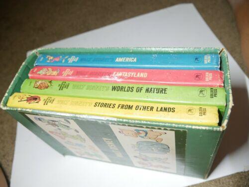 VINTAGE THE WONDERFUL WORLDS OF WALT DISNEY, 4 BOOK BOX SET 1965 GOLDEN PRESS