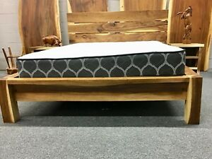 Custom made Live Edge bed set.