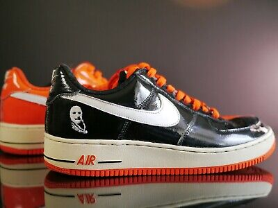 Nike Mens Size 9.5 Air Force 1 Premium Halloween Black-White-Orange 313641-011 - Air Force 1 Premium Halloween