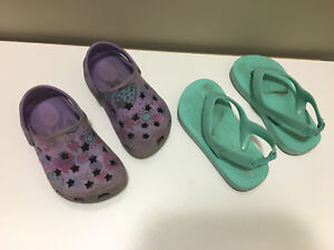 Size 7T Summer Shoes (2 pairs)