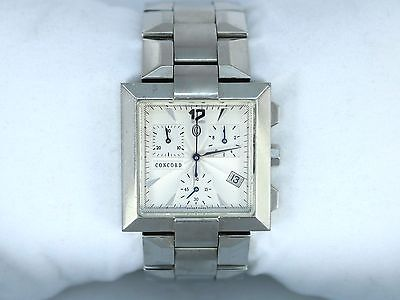 Concord Stainless Steel Wrist Watch - $3150 Men's Concord La Scala Wrist Watch Stainless Steel 30mm Square Swiss made