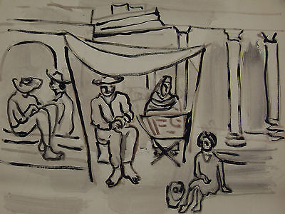 Irving Lehman Latin Mexican Period Modernist NY Russian American WPA Artist