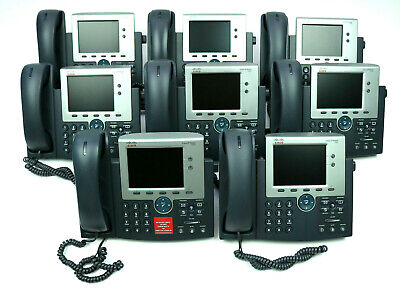 Cisco 7945 Ip Phone Cp-7945g Series Unified Two Line 5 Inch Color Lot Of 8
