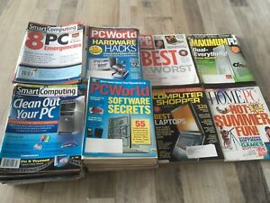 Large lot of over 100 Computer Magazines!
