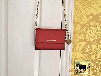 Michael Kors small red Leather Bag - Hardly Used - VGC
