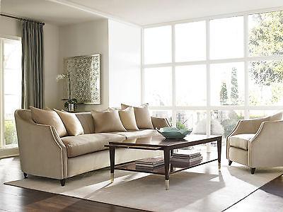 Modern Living Room Set Furniture - COLLET Tan Velvet Oversize Sofa Couch Chair