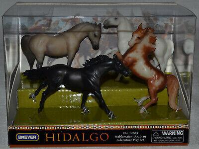 Breyer~Hidalgo Arabian Set~2004~Rearing Pinto~Grey Mare~White~Stablemate~Sm