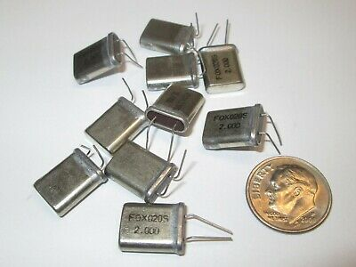 2.000 Mhz Crystal Hc-49u Case 10 Pcs. Nos