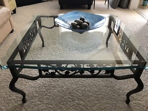 Glass coffee table with matching end table