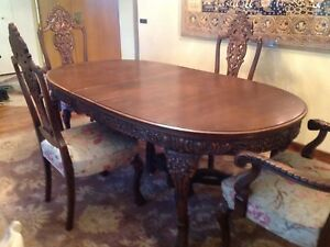 ‼️MAGNIFICENT ANTIQUE Dining Set ** 10 Pieces** ONE OF a KIND