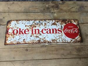Vintage metal Coca Cola sign