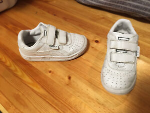 Puma runners white size 7 toddler