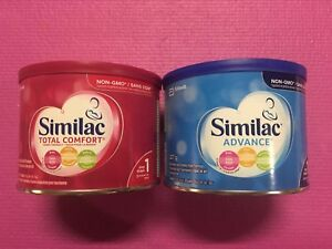 Similac blue and pink tins