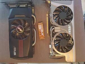 """SLI Nvidia GTX 560 X2 Graphics Cards and BONUS 5.25"""" Power Supply Mount Cotton Redland Area Preview"""