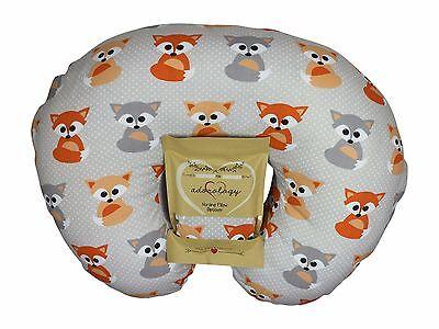Nursing Pillow Slipcover Baby Gray Foxes Cover Maternity Breastfeeding Newborn