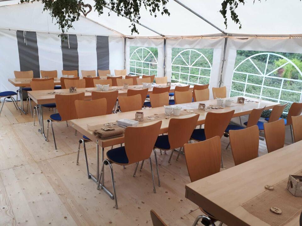 Festzelt Partyzelt 5x8m mieten leihen mit Bierzeltgarnituren in Ebeleben