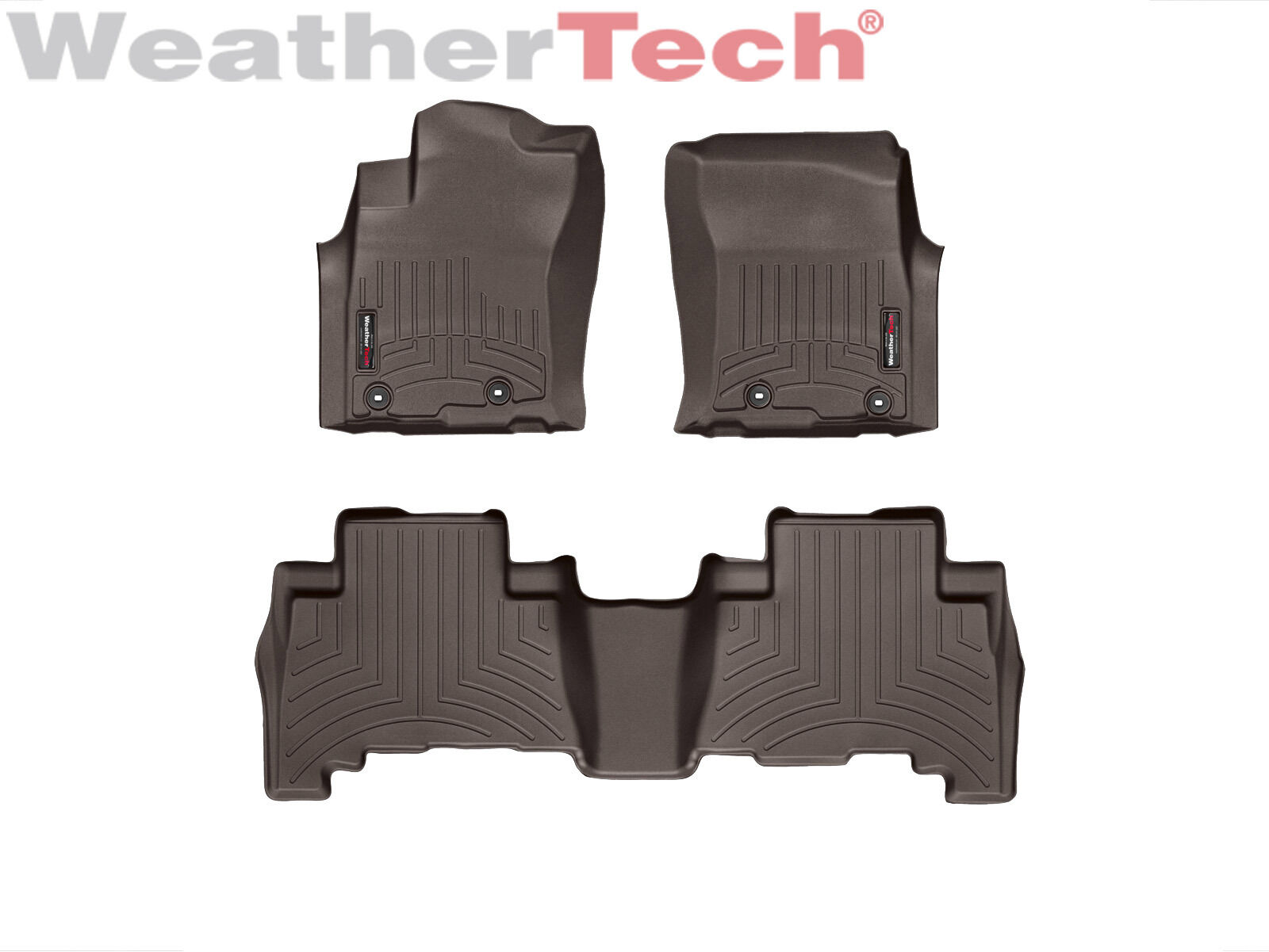Suv Floor Mats >> Details About Weathertech Suv Floor Mats Floorliner For 4runner Gx 1st 2nd Row Cocoa