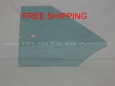 1968 1969 1970 1971 1972 Chevy II Nova Quarter Glass 2 Door Sedan  Left Green