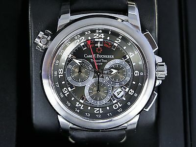 Carl F Bucherer TravelTec GMT Patravi 00.10620.08.33.01 Wrist Watch Chronograph