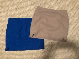 2 Wool Lined J Crew Mini Skirts
